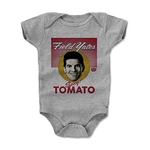 500 LEVEL Fantasy Football Baby Clothes, Onesie, Creeper, Bodysuit - 18-24 Months Heather Gray - Field Yates Spicy Tomato Soup (Soup Costume Tomato)