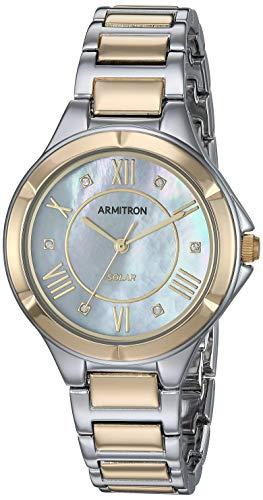 - Armitron Women's 75/5624MPTT Solar Powered Swarovski Crystal Accented Two-Tone Bracelet Watch