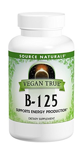 SOURCE NATURALS Vegan True B 125 Mg Tablet, 60 Count