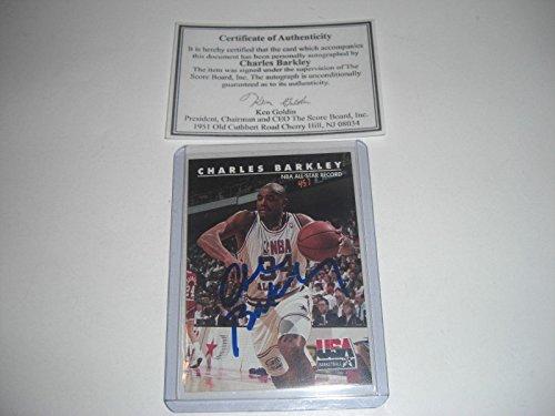 more photos 57457 6cf56 Charles Barkley Nba Allstar,76ers Scoreboard coa   Stamp Signed Card - Basketball  Autographed Cards
