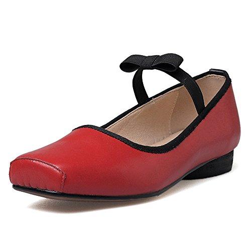 Neuf Sept Femmes En Cuir Véritable Orteil Confort À La Main Robe Ballet Appartements Chaussures Rouge