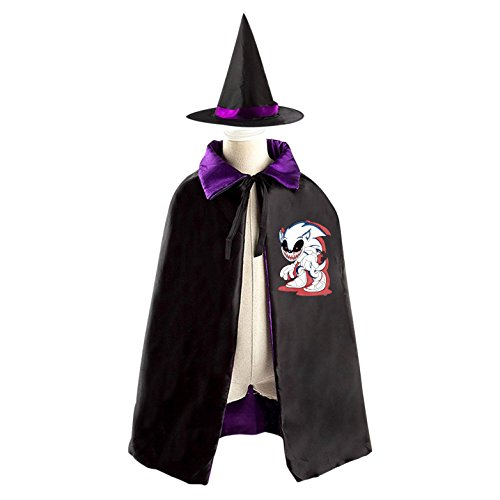 Easy Homemade Devil Costume (Halloween Red-Eyed Devil Witches' Cloaks Boys Girls Reversible Cosplay)