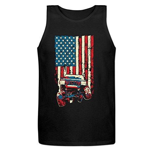 Jamefoxfit Mens American Flag ZJ Jeep Grand Cherokee Sleeveless Tank Top
