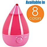Crane Ultrasonic Cool Mist Humidifier, Filter-Free, 1 Gallon, for Home Bedroom Baby Nursery and Office, Pink