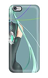 Best 7074016K850442341 vocaloid hair manicure anime girls Anime Pop Culture Hard Plastic iPhone 6 Plus cases