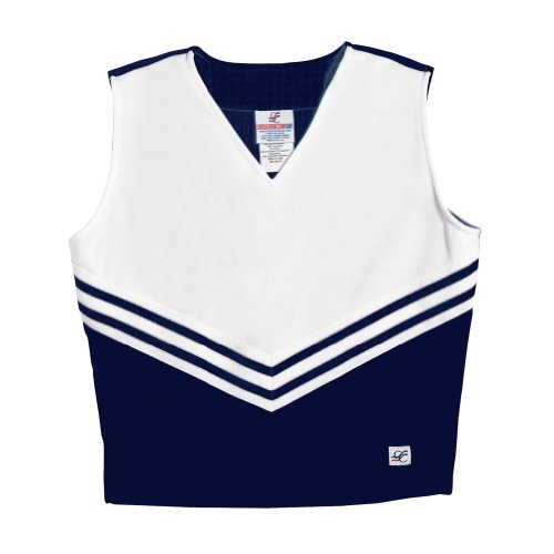 V-Neck Cheerleading Shell, AL, Navy -