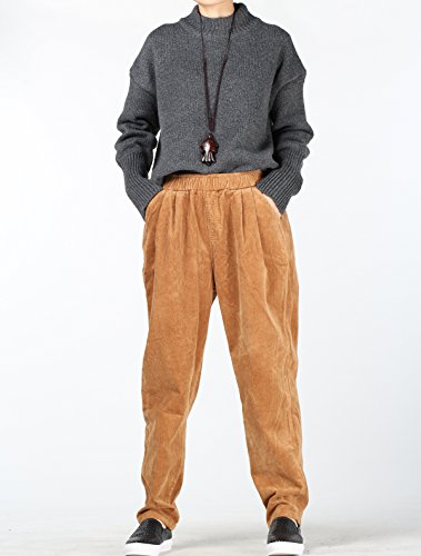 Vogstyle - Pantalón - para mujer marrón claro