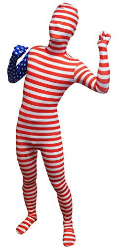 VSVO Adult American Flag Full Body Costumes (X-Large, Adults) (Dance Revolution Dance Costumes)