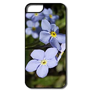 IPhone 5S Case, Blue Flower White/black Case For IPhone 5 5S