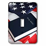 3dRose LSP_258819_1 USA, California. American Flag and Bible Toggle Switch,