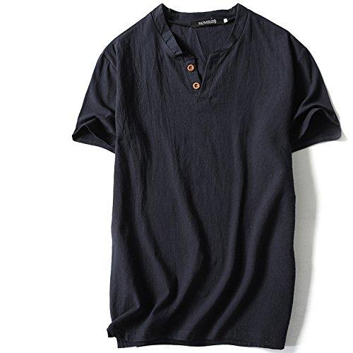 [XINXIKEJI]夏服 メンズ ロックtシャツ ビジネス tシャツ 無地 ポロシャツ vネック インナー ボーイズ 男の子 Tシャツ 半袖 大きいサイズ 修身 カジュアル シャツ ゴルフウェア 上着 通勤 通学 運動 日常用 M-XXXXXL