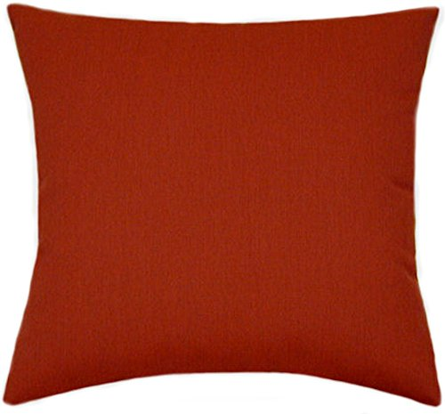 TPO Design Sunbrella Henna Indoor/Outdoor Solid Patio Pillow 20x20 by TPO Design