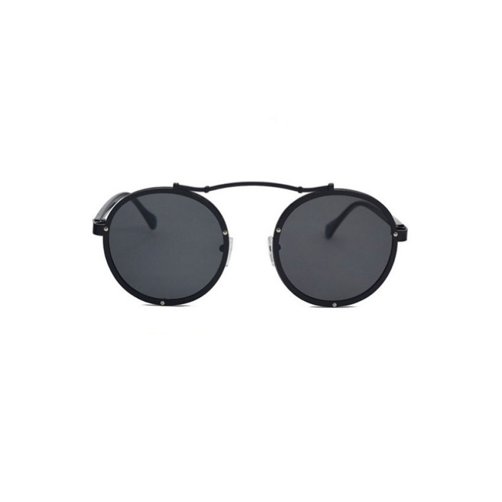 36691f01aa Gafas De Sol con La Misma Personalidad Remaches Swag De Gafas De Sol  Redondas,Black: Amazon.es: Hogar