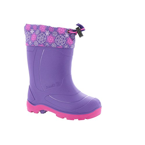 Kamik Kids' Snobuster2 Snow Boot, Black/Magenta, 1 M US Little (Kamik Winter Boots)
