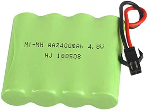 Cuasting 4.8V 2400MAh Ni-MH Bater/íA Grupo RC Juguete Iluminaci/óN El/éCtrica AA 4.8 V 2400 Bater/íA para RC Toys