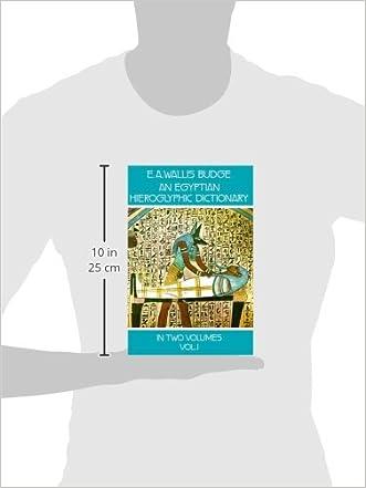 an egyptian hieroglyphic dictionary vol 1