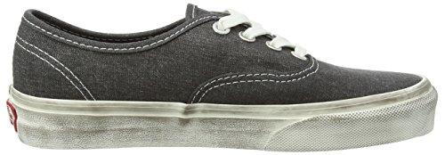 Vans U AUTHENTIC, Unisex–Erwachsene Sneakers, knöchelfrei, schwarz - Black (Overwashed - Black) - Größe: 47 EU