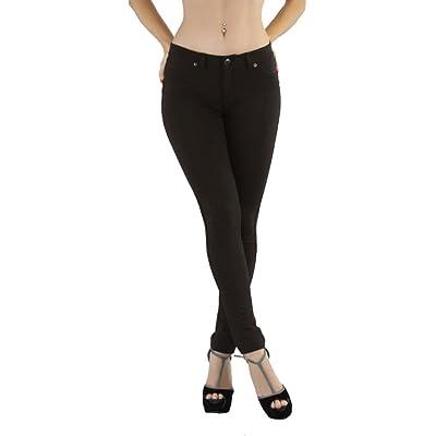 ToBeInStyle Women/'s Super Skinny Fit Soft Knit Moleton Jeggings