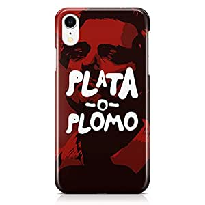 Loud Universe Case for iPhone XR Wrap Around Edges Plata o Plomo Tv Show Rugged Light weight Printed Edges iiPhone XR Cover