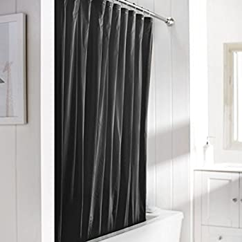 United Linens 10 Gauge HEAVY DUTY Shower Curtain Liner Black,70x72, PEVA, ,  Mildew Free, Resistant, Mold Resistant , Eco Friendly , Vinyl , No Chemical  Odor ...