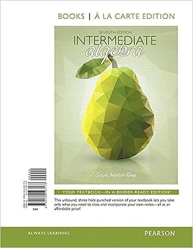 Intermediate algebra books a la carte edition 7th edition elayn intermediate algebra books a la carte edition 7th edition 7th edition fandeluxe Images