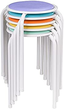 5-Pk. Fat Catalog Assorted Color Metal Stack Stool