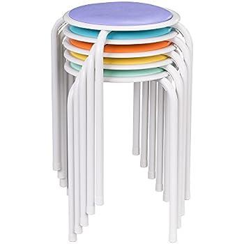Amazon Com Yaheetech 17 3 Quot Plastic Stack Stools Portable