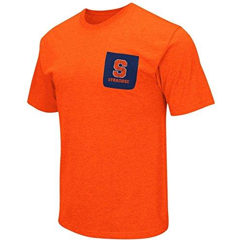 Syracuse University Men's T-Shirt with Pocket (XXX-Large) Syracuse Pocket