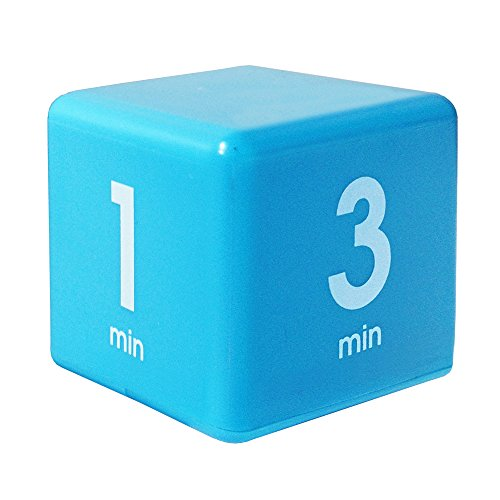 The Miracle TimeCube Timer, 1, 3, 5 and 7 Minutes, for Time Management, Kitchen Timer, Kids Timer, Workout Timer, Blue]()
