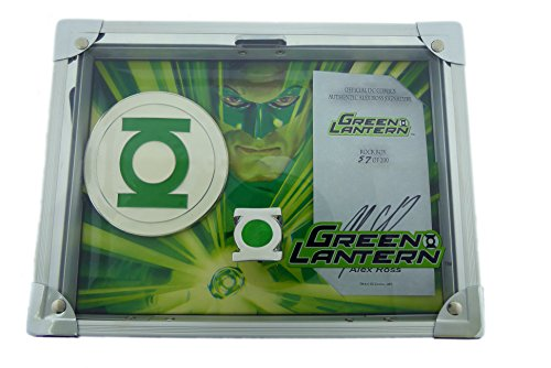 Green Lantern Belt Buckle, Ring, Rock Box and Alex Ross Signature Card. (11)