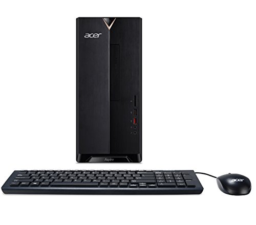 Acer Aspire TC-885-ACCFLi5O Desktop, 8th Gen Intel Core i5-8400, 24GB Total Memory (16GB Optane Memory & 8GB DDR4), 2TB HDD, 8X DVD, 802.11ac WiFi, Windows 10 Home