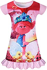 Trolls Girl Nightgowns Toddler Girl Sleepwear Princess Pajamas Bedding Sleep Dress