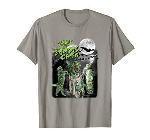Zombie Cats Halloween T Shirt