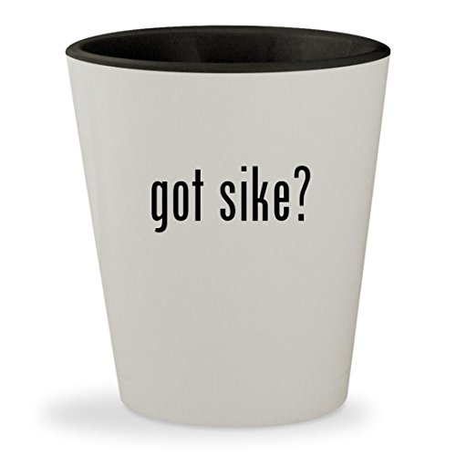 got sike? - White Outer & Black Inner Ceramic 1.5oz Shot - Center Sikes