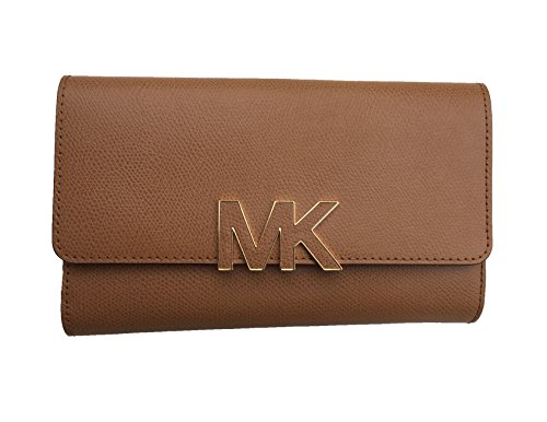 Michael Michael Kors Florence Leather Large Billfold Wallet (One Size, Acorn (0804) / Gold) by MICHAEL Michael Kors