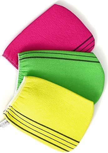 3pcs Exfoliating Bath Body Scrub Gloves Dead Skin Washcloth Korean Italy Towel