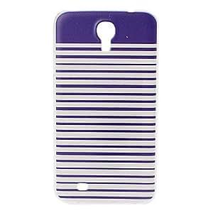 Patrón de la raya azul del caso de la cubierta de plástico blando para Samsung Galaxy i9200 Mega