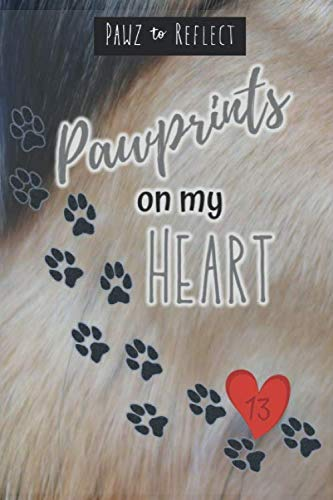 (Pawprints On My Heart 13: Glossy Photo Cover Detail of White, Tan, Grey, Black, Blue Fur, 6