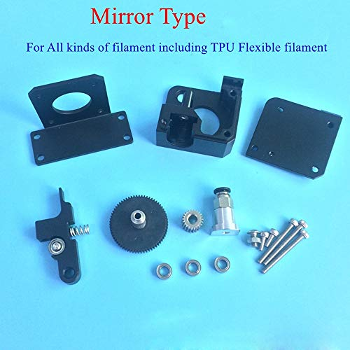 Zamtac Updated Mirror Type Bowden Extruder All Metal Titan Aero Extruder Kit TPU Flexible Filament for 1.75mm Prusa I3 3D Printer - (Size: 1.75mm Forward Type, Color: Black)