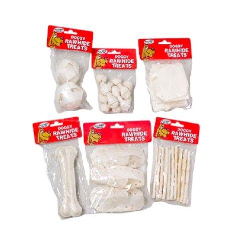 Pyara Paws White Rawhide Dog Treat, 28-Pack, My Pet Supplies