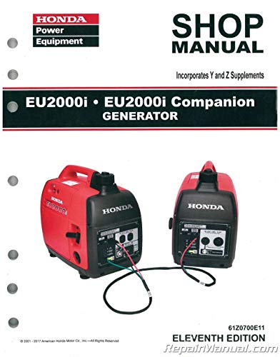61Z0700E11 Honda EU2000i EU2000i Companion Generator Shop Manual