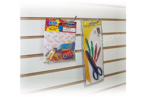 4'' Slatwall Hooks For Slat Panel Display - 50 Pcs Box - 1/4'' Dia Wire - Standard Duty - Chrome Color