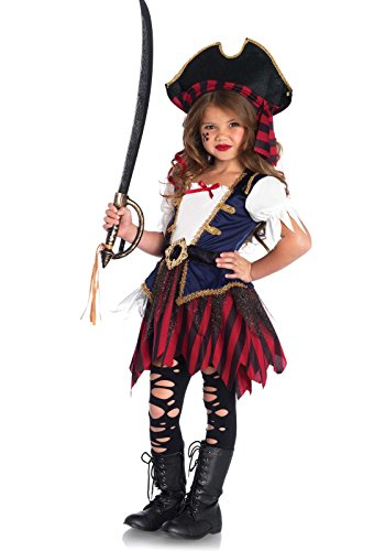 Leg Avenue Enchanted Caribbean Pirate Costume (2 Piece), Multicolor, -