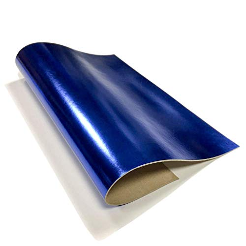 Genuine Leather Metallic Leather Skin:Royal Blue Leather for Crafts-10x10in/~2oz