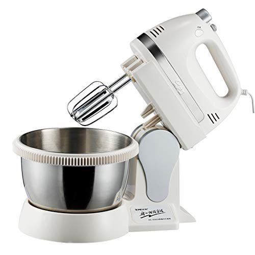 (XF Hand Mixers Eggbeater With Bucket Seat Electric Egg Beater Eggbeater Dough Mixer - 311933.1cm White Small Appliances)