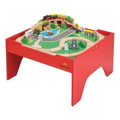 Amazon.com: Wildwood Train Set and Table toy gift idea birthday ...