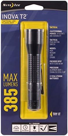 Nite IzeT3D-01-R7 Inova T3 Tactical LED Flashlight Black