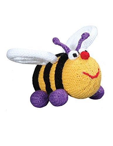 Zubels 蜂のエリザベス 手編み 赤ちゃん用ラトル環境に優しい、5インチ。   B00ZSEPUIU