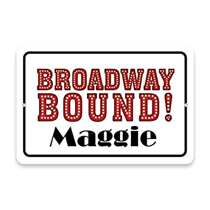 Amazon Home Decor Sign Personalized Broadway Bound Metal