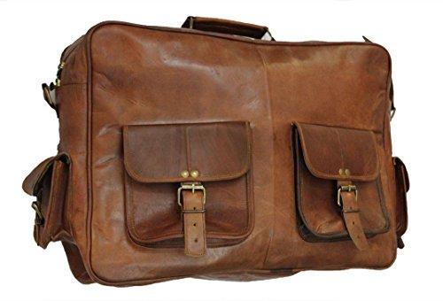 classydesigns ufficio 16 , vera pelle, fatta a mano, stile vintage, con borsa messenger Borsa/valigetta